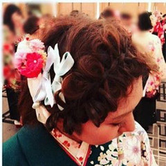 ショート ミディアム 簡単ヘアアレンジ 成人式 ヘアスタイルや髪型の写真・画像