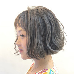 ナチュラル 色気 ボブ ショート ヘアスタイルや髪型の写真・画像