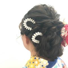 ヘアアレンジ ロング アップスタイル フェミニン ヘアスタイルや髪型の写真・画像