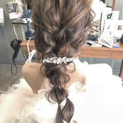 ロング 結婚式 ヘアアレンジ ブライダル ヘアスタイルや髪型の写真・画像