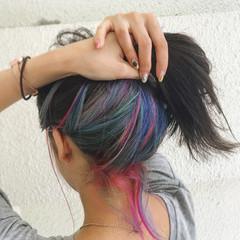 ハイライト ヘアアレンジ ナチュラル 外国人風 ヘアスタイルや髪型の写真・画像