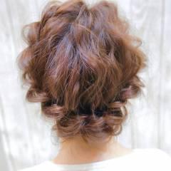 ナチュラル 愛され ヘアアレンジ ゆるふわ ヘアスタイルや髪型の写真・画像