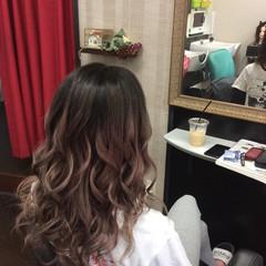 ダブルカラー ガーリー 外国人風カラー グラデーションカラー ヘアスタイルや髪型の写真・画像