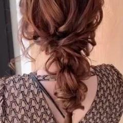お呼ばれヘア ヘアアレンジ ロング ゆるふわセット ヘアスタイルや髪型の写真・画像