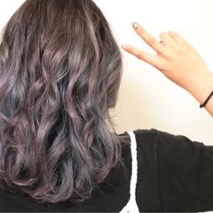 ハイトーン モード ブルー パープル ヘアスタイルや髪型の写真・画像