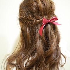 ショート ヘアアレンジ フィッシュボーン ロング ヘアスタイルや髪型の写真・画像