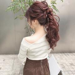 大人かわいい ポニーテール フェミニン デート ヘアスタイルや髪型の写真・画像