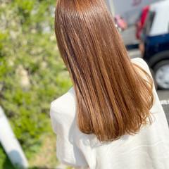 ロング ガーリー ヌーディベージュ シアーベージュ ヘアスタイルや髪型の写真・画像