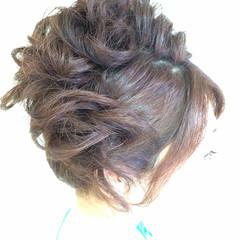 ゆるふわ ヘアアレンジ パーティ アップスタイル ヘアスタイルや髪型の写真・画像