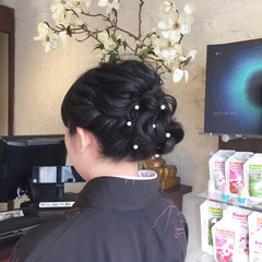 結婚式 エレガント 上品 着物 ヘアスタイルや髪型の写真・画像