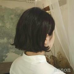 ボブ 色気 外ハネ ナチュラル ヘアスタイルや髪型の写真・画像