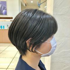 小顔ショート ナチュラル ショートヘア ベリーショート ヘアスタイルや髪型の写真・画像