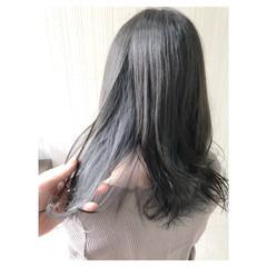 グレージュ インナーカラー ブリーチ ヘアアレンジ ヘアスタイルや髪型の写真・画像