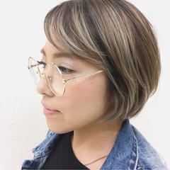 ストリート 外国人風 ショート グラデーションカラー ヘアスタイルや髪型の写真・画像