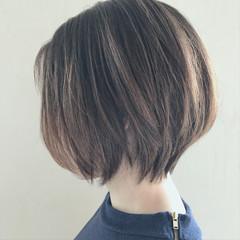 秋 ボブ 女子会 ナチュラル ヘアスタイルや髪型の写真・画像