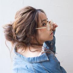 ゆるふわ ロング お団子 外国人風 ヘアスタイルや髪型の写真・画像