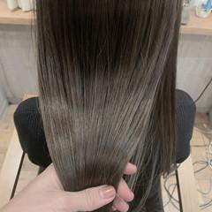 透明感カラー 髪質改善カラー ロング アンニュイほつれヘア ヘアスタイルや髪型の写真・画像