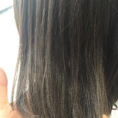 ナチュラル グレージュ ボブ 暗髪 ヘアスタイルや髪型の写真・画像
