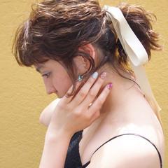 ハイライト ボブ ポニーテール ヘアアレンジ ヘアスタイルや髪型の写真・画像