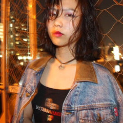 ウェーブ ストリート ミディアム ラフ ヘアスタイルや髪型の写真・画像
