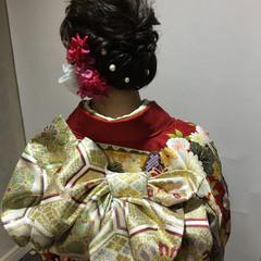 アッシュ お祭り 着物 ヘアアレンジ ヘアスタイルや髪型の写真・画像