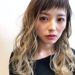 外国人風 透明感 モード ハイライト ヘアスタイルや髪型の写真・画像