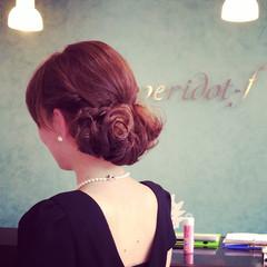 フェミニン ヘアアレンジ ロング ヘアスタイルや髪型の写真・画像