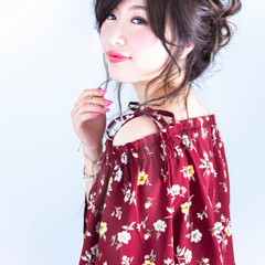 ゆるふわ 大人女子 ヘアアレンジ ロング ヘアスタイルや髪型の写真・画像
