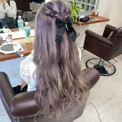ガーリー ギャル ハイトーン ピンク ヘアスタイルや髪型の写真・画像
