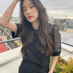 ナチュラル 韓国ヘア タンバルモリ ロング ヘアスタイルや髪型の写真・画像