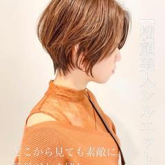 ナチュラル ショートヘア ショートボブ ミニボブ ヘアスタイルや髪型の写真・画像