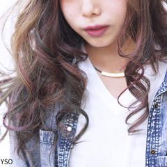 カラフルカラー ハイライト 外国人風 ガーリー ヘアスタイルや髪型の写真・画像