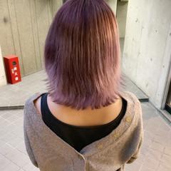 ブリーチカラー ゆるふわ ブリーチ ピンク ヘアスタイルや髪型の写真・画像