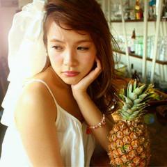 結婚式 ゆるふわ ヘアアレンジ 大人かわいい ヘアスタイルや髪型の写真・画像