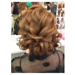 ミディアム 冬 フェミニン 結婚式 ヘアスタイルや髪型の写真・画像