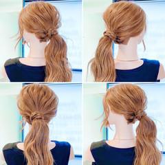 ロング セルフヘアアレンジ ポニーテールアレンジ ヘアセット ヘアスタイルや髪型の写真・画像