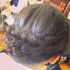 ヘアアレンジ ナチュラル アップスタイル 編み込み ヘアスタイルや髪型の写真・画像