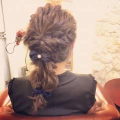ヘアアレンジ 夏 外国人風カラー 編み込み ヘアスタイルや髪型の写真・画像
