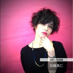 モテ髪 ストリート 黒髪 ショート ヘアスタイルや髪型の写真・画像