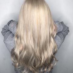 フェミニン 透明感 外国人風カラー ロング ヘアスタイルや髪型の写真・画像