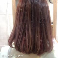 ダブルカラー ベージュ ピンク ストリート ヘアスタイルや髪型の写真・画像
