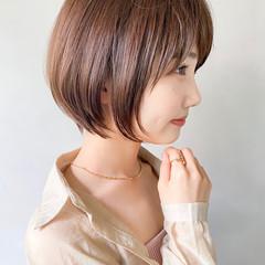 大人かわいい ナチュラル ショートヘア デート ヘアスタイルや髪型の写真・画像