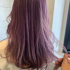 ピンク ラズベリーピンク ガーリー ピンクラベンダー ヘアスタイルや髪型の写真・画像