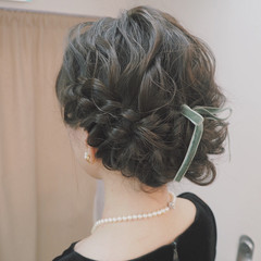 ヘアアレンジ 編み込み 外国人風 結婚式 ヘアスタイルや髪型の写真・画像