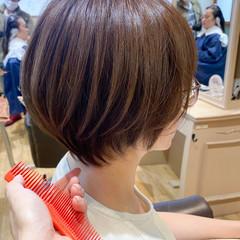 ナチュラル 丸みショート ショートボブ ショートヘア ヘアスタイルや髪型の写真・画像