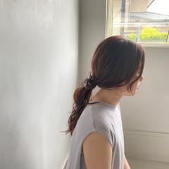 エレガント ハイライト ピンクベージュ ヘアカラー ヘアスタイルや髪型の写真・画像