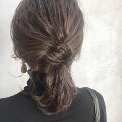 簡単ヘアアレンジ ミディアム 結婚式 アンニュイほつれヘア ヘアスタイルや髪型の写真・画像