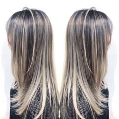 ユニコーンカラー ロング ナチュラル グラデーションカラー ヘアスタイルや髪型の写真・画像