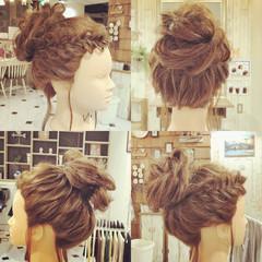 ナチュラル 簡単ヘアアレンジ ロング お団子 ヘアスタイルや髪型の写真・画像