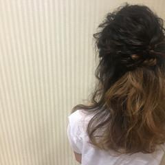 ショート ガーリー 夏 簡単ヘアアレンジ ヘアスタイルや髪型の写真・画像